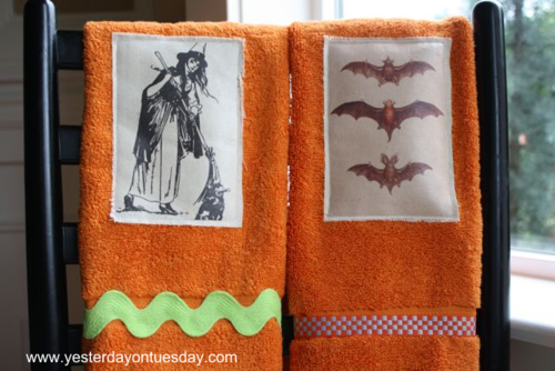Halloween Handtowels - Yesterday on Tuesday