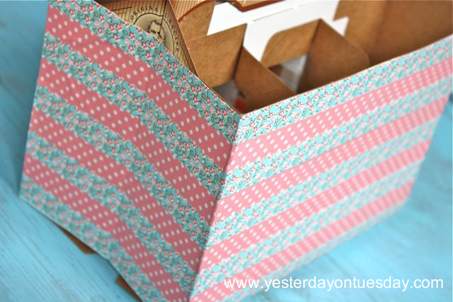 Washi Tape Straw Carrier - Yesterday on Tuesday #washi