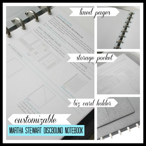 Martha Stewart Discbound Notebook - Yesterday on Tuesday #avery #martha stewart home office #staples