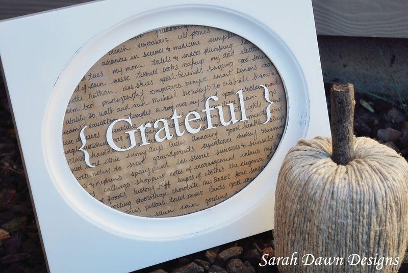 Gratitude Frame