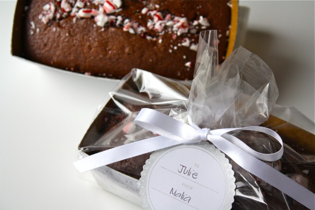 Chocolate Peppermint Loaf - Yesterday on Tuesday #peppermint #dessert