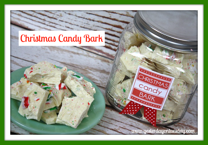 Christmas Candy Bark - Yesterday on Tuesday #christmasfood
