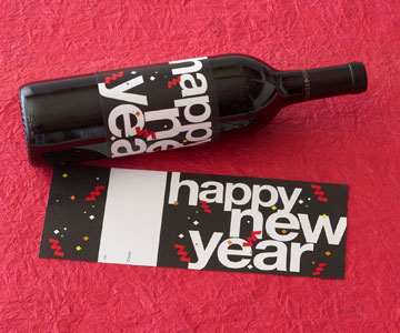 New Years Wine Label - BHG