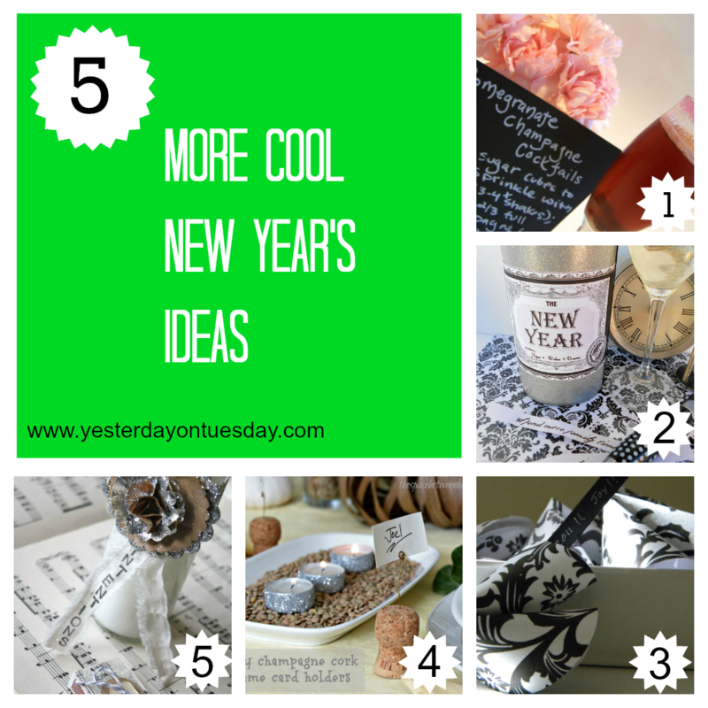 New Years Crafts - Yesterday on Tuesday #newyears #newyearscrafts #newyearsparties