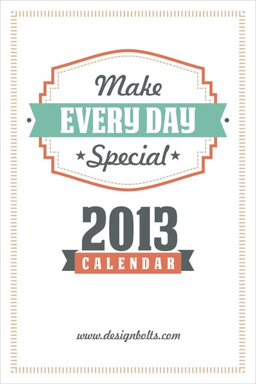 Make Every Day Special - Design Bolt #freecalendar