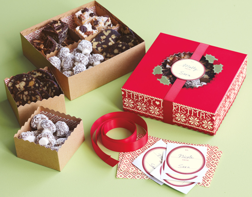 Cottage Christmas Compartment Treat Boxes - Martha Stewart Crafts