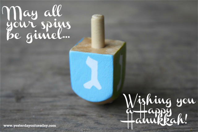 Gimel - Happy Hanukkah from Yesterday on Tuesday #hanukkah #chanukah #dreidel