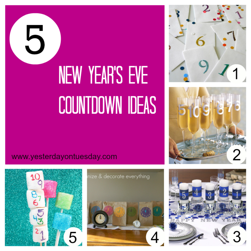 5 New Year's Countdowns - Yesterday on Tuesday #newyears #newyearscrafts #newyearscountdowns