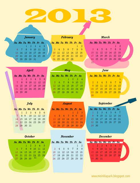 Coffee Break Calendar - MeinLilaPark #freecalendar