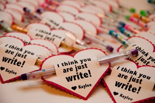 I Think You Are Just Write Valentine - Bits of Everything #bitsofeverything #valentines #kidsvalentines #valentinesday