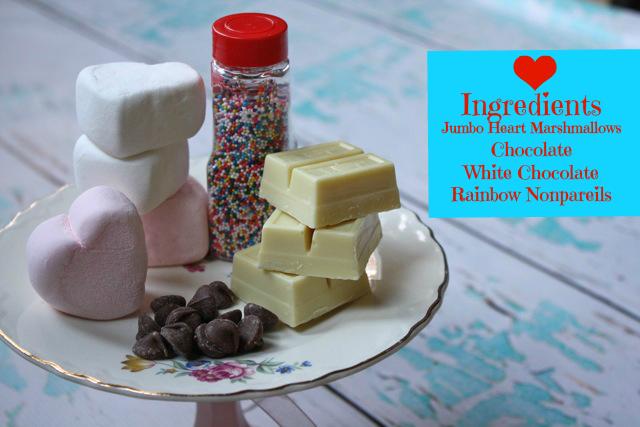 Chocolate Dipped Hearts - Yesterday on Tuesday #kraftmarshmallows, #valentinesday, #valentinesdayfood