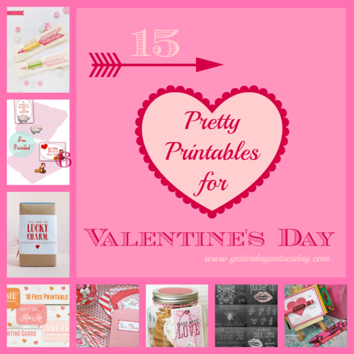 15 Pretty Printables for Valentine's Day