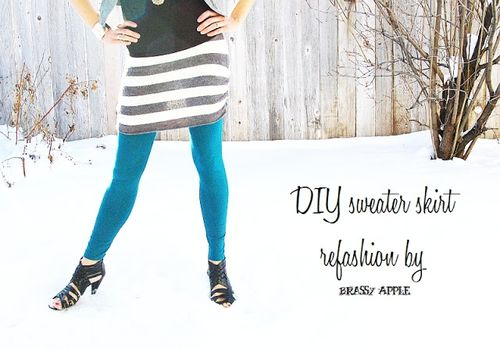 Diy Sweater Skirt Refashion  - Shabby Apple