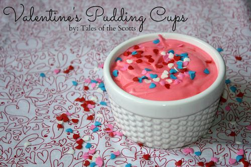 Valentine's Pudding Cups