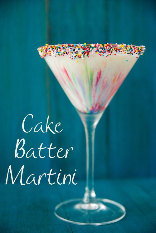 Cake Batter Martini - The Novice Chef 