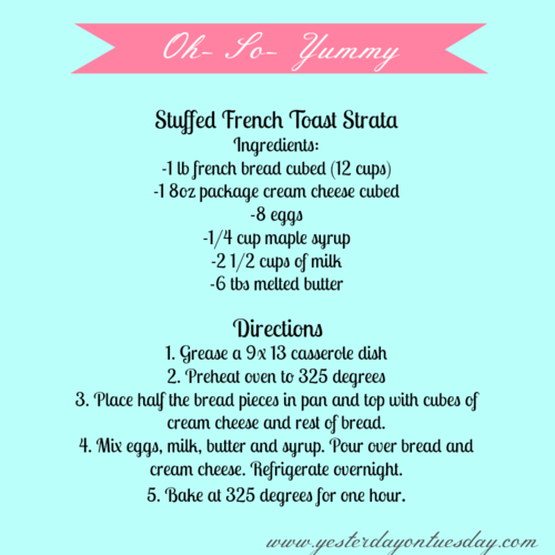 French Toast Strata - Yesterday on Tuesday #frenchtoast #breakfastfood #breakfast