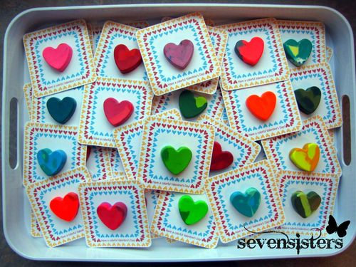 Crayon Heart Valentines - Seven Sisters #sevensistersinchrist #valentines #kidsvalentines #valentinesday
