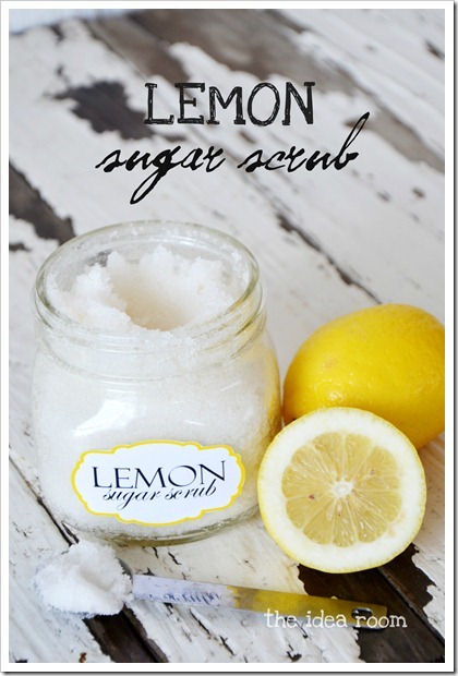 Lemon Sugar Scrub - The Idea Room