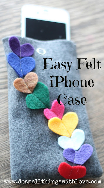 Easy Felt iPhone Case - Do Small Things with Love