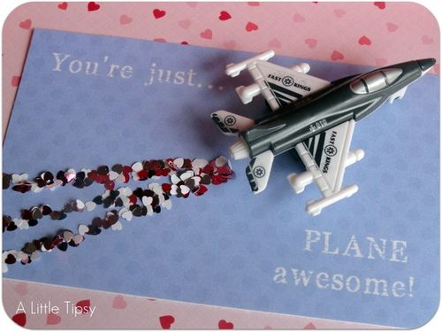 Plane Awesome Valentine - A Little Tipsy #alittletipsy #valentines #kidsvalentines #valentinesday