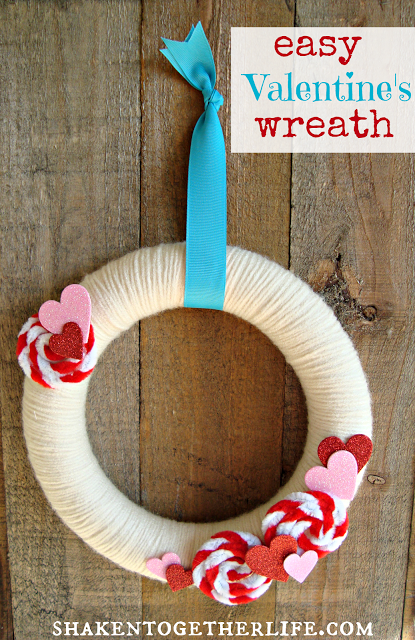 Easy Valentine Wreath - Shaken Together Life