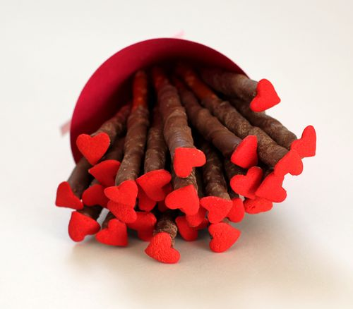 Pretzel Heart Sticks - Creatively Christy