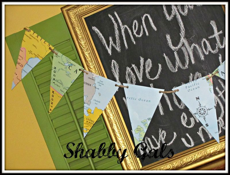 World Map Banner - Shabby Gals
