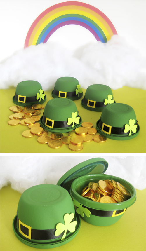 Leprechaun Hat Favors - Canadian Living #stpatricksday #stpatricksdaycrafts #greencrafts