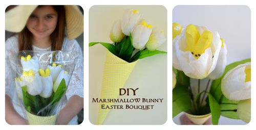 Peeps marshmallow bunny tulip bouquet easter project - Rook No.17