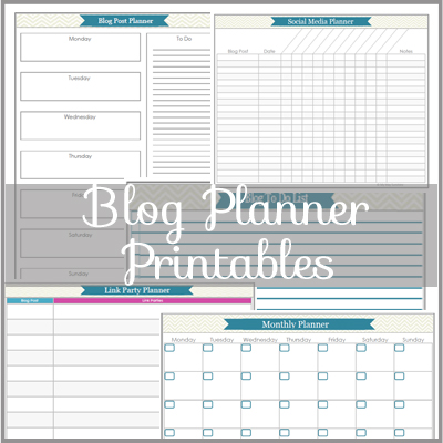 Blog Planner Printables - My May Sunshine