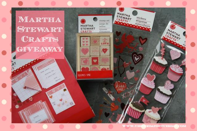 Martha Stewart Crafts Giveaway - YoT #marthastewartcrafts #giveaway #valentinesday