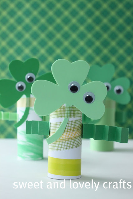 Wee Little Shamrock Men - Sweet and Lovely Crafts