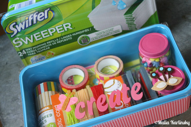 Kid's UpCycled Creativity Kit - Dish Soap ReVamp - YoT #organizingkids #kidsartkit #organizing #freeorganizing #frugalorganizing #yesterdayontuesday