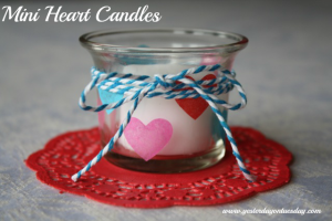 Mini Heart Candles, a cheap and fast Valentine's Day Craft from http://yesterdayontuesday.com