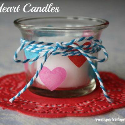 Mini Heart Candles
