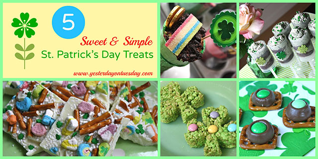 5 ST. Patrick's Day Treats Collage