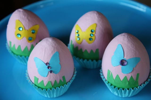Decorating beautiful Easter eggs