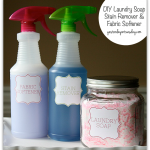 DIY Laundry Soap, Stain Remover and Fabric Softener from http://yesterdayontuesday.com #laundrysoap #diycleaning