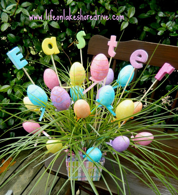 Easter Spring Arrangement - Life on Lakeshore Drive