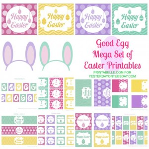 FREE Mega Set Easter Printables | Yesterday On Tuesday #easter #freeeasterprintables #easterprintables #yesterdayontuesday #printabelle