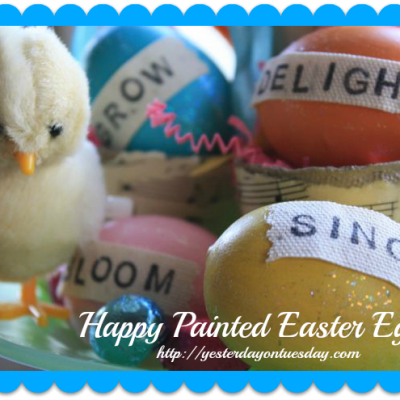 Happy Painted Easter Eggs