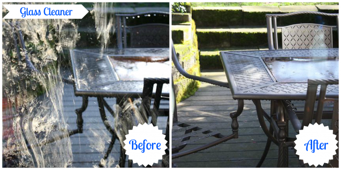 PIX Glass Cleaner Before and After