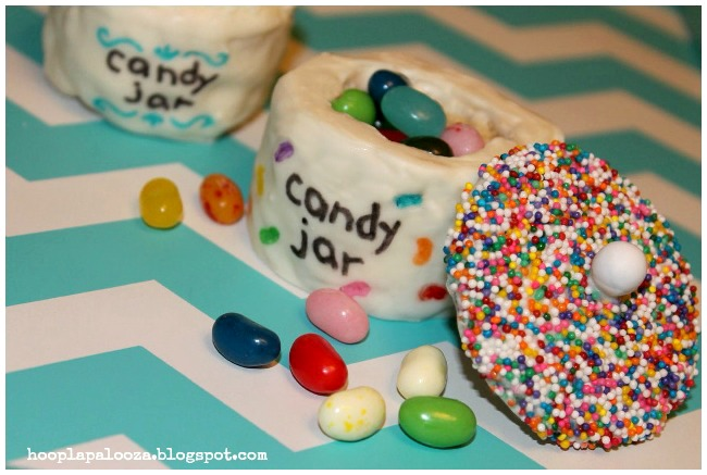 Rice Krispie Candy Filled Jars - Hooplapalooza