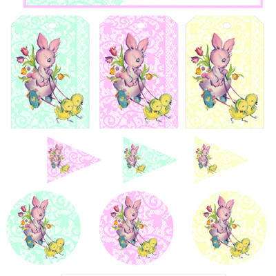 FREE Vintage Easter Party Printables