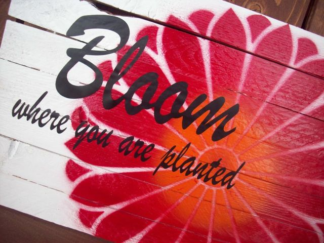Bloom Where You Are Planted Sign - Summer Scraps