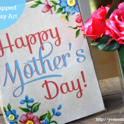 Burlap Wrapped Mother's Day Art