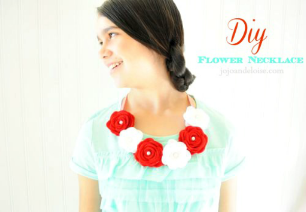 DIY Flower Necklace - JoJo and Eloise