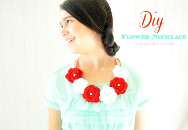DIY Flower Necklace - JoJo and Eloise