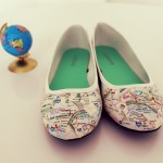 Transforming plain shoes into map shoes