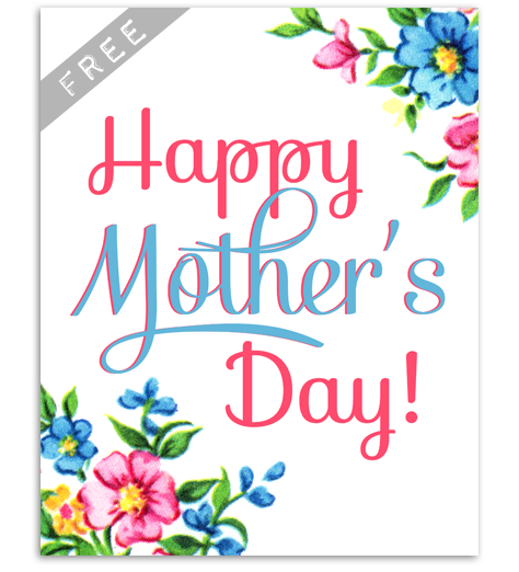 photo regarding Printable Mothers Day Pictures identified as Cost-free Basic Moms Working day Social gathering Printables Yesterday Upon